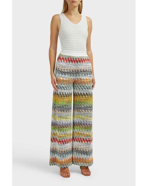 60a5979a6a8 ... Missoni - Multicolor Zig Zag Cotton-blend Jumpsuit - Lyst ...