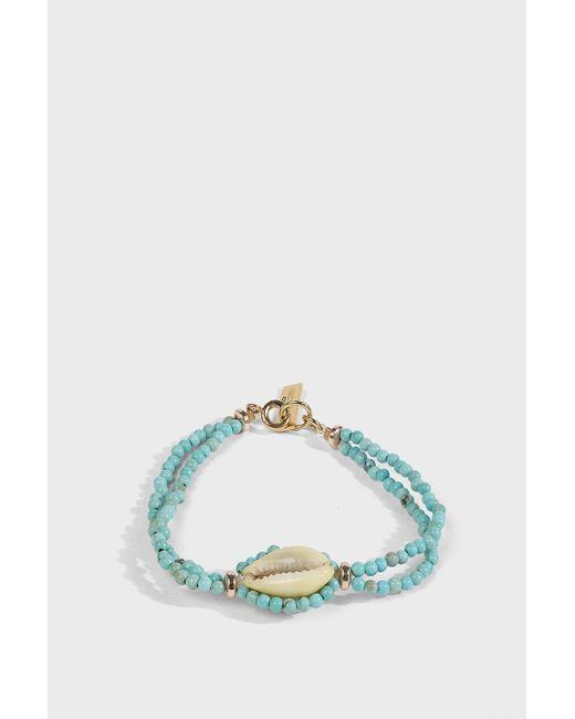 Isabel Marant - Multicolor Shell Pendant Bracelet, Size Os, Women, Blue - Lyst