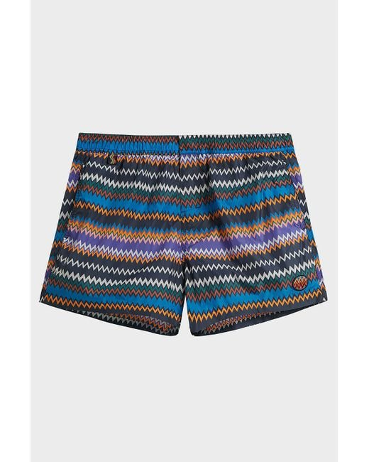 6e84a21366 Missoni - Blue Printed Swim Shorts for Men - Lyst ...