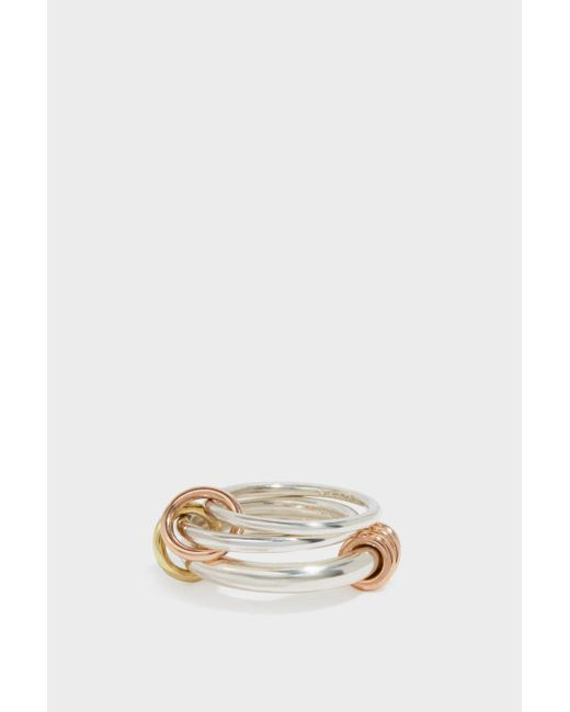 Spinelli Kilcollin   Metallic Orion Sterling Silver, 18-karat Rose And Yellow Gold Ring   Lyst