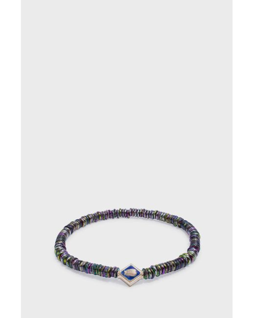 Luis Morais | Multicolor Scarab Lozenge Beaded Bracelet | Lyst