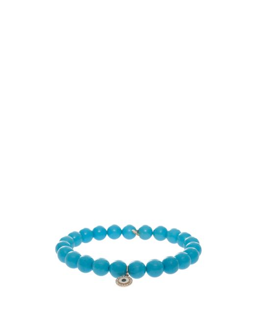 Sydney Evan | Blue Evil Eye Charm Bracelet | Lyst