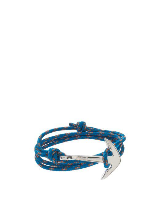 Miansai | Blue Anchor Rope Bracelet for Men | Lyst