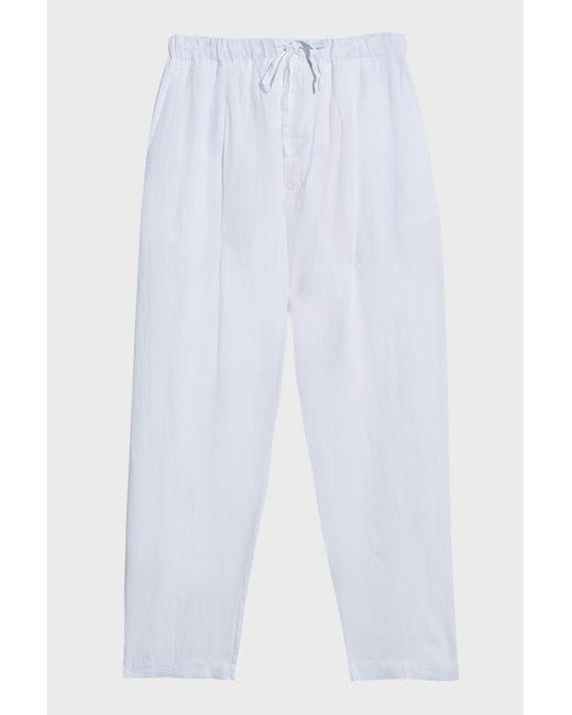 bc28773122 120% Lino - White Linen Trousers for Men - Lyst ...