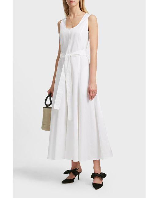 The Row - White Daria Stretch-cotton Poplin Dress - Lyst