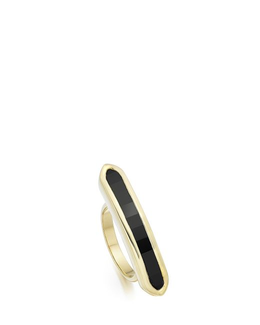 Monica Vinader | Black Baja Long Ring | Lyst