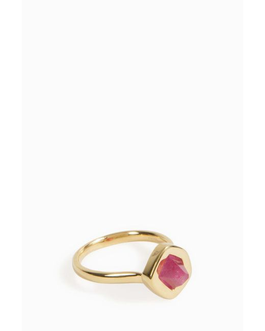 Monica Vinader | Multicolor Petra Stacking Ring | Lyst