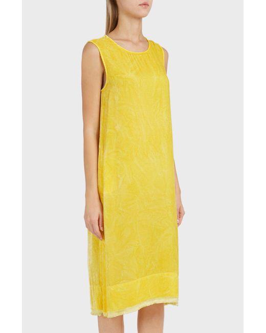 Raquel Allegra | Yellow Hand-dyed Velvet Dress | Lyst