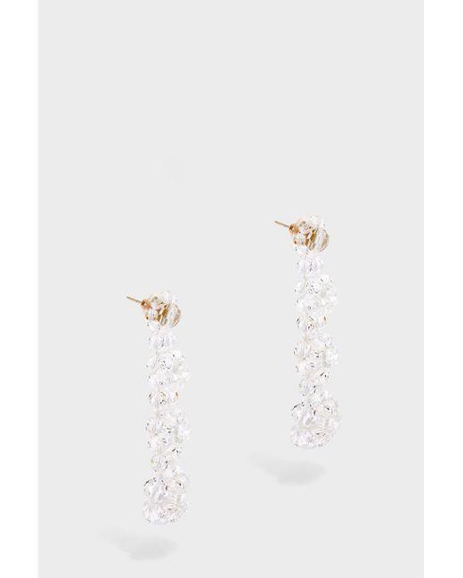 Simone Rocha   White Four Tier Beaded Drop Earrings   Lyst