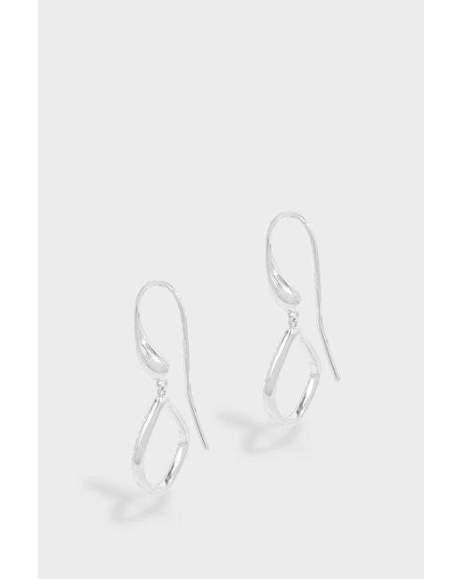 Monica Vinader | White Riva Diamond Kite Earrings | Lyst