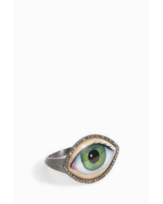 Lito | Green Enamel Eye Ring | Lyst