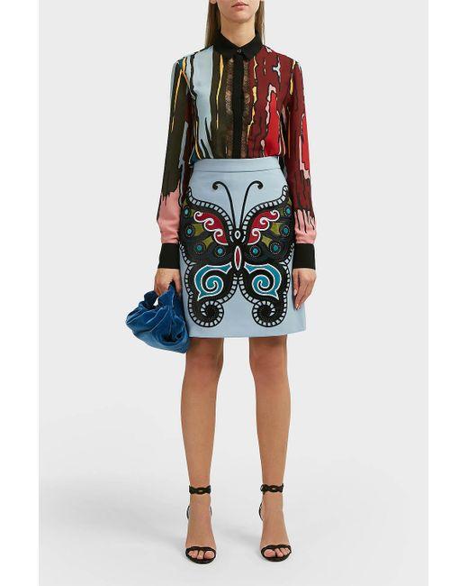 Elie Saab - Multicolor Printed Georgette Shirt - Lyst