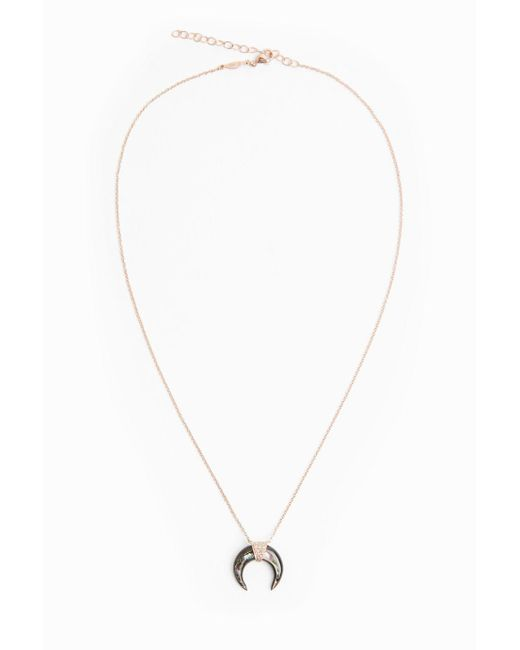 Jacquie Aiche | Metallic Pave Diamond Abalone Horn Necklace | Lyst