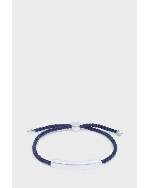 Monica Vinader   Blue Linear Men's Friendship Bracelet for Men   Lyst