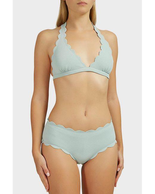 f8f5084e9a72 ... Marysia Swim - Green Spring Scalloped Bikini Top - Lyst ...