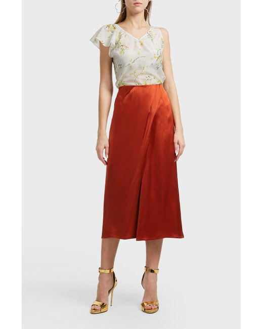 Merchant Archive - Red Asymmetric Sleeves Top - Lyst