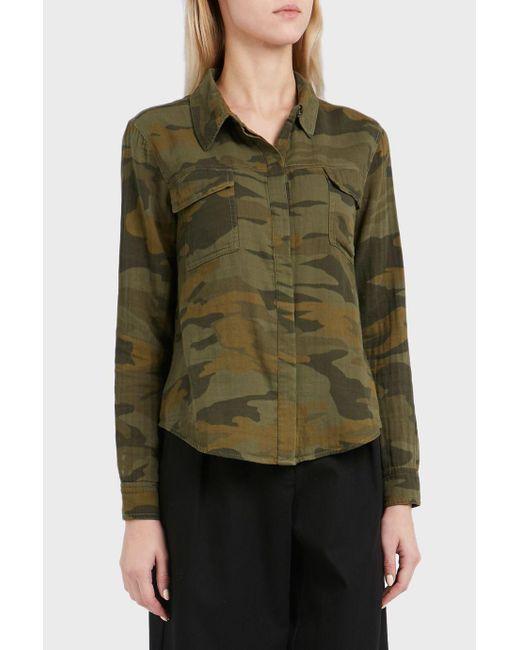 Splendid | Green Double Pocket Cotton Shirt | Lyst