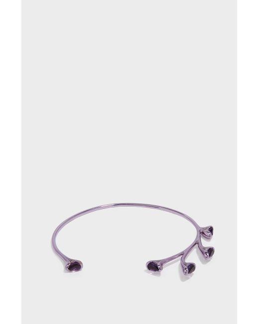 Fernando Jorge | Metallic Sprouting Lilac-coated 18-karat Gold Diamond And Amethyst Bracelet | Lyst