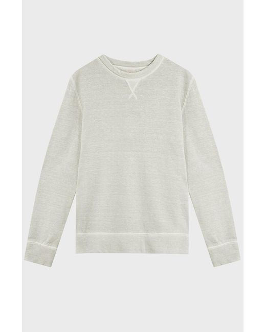 120% Lino   White Crew Neck Linen And Cotton-blend Jumper   Lyst