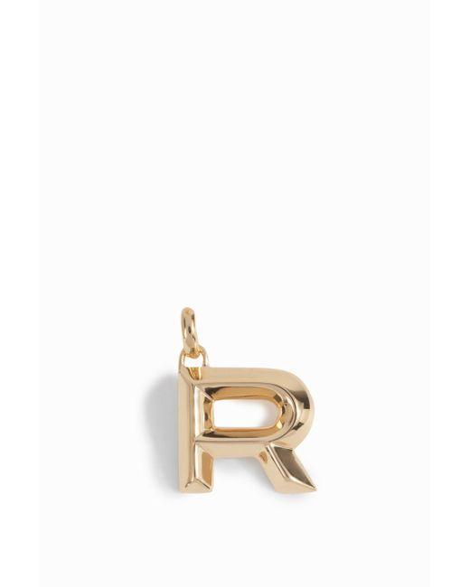 Monica Vinader | Metallic Alphabet Pendant R | Lyst