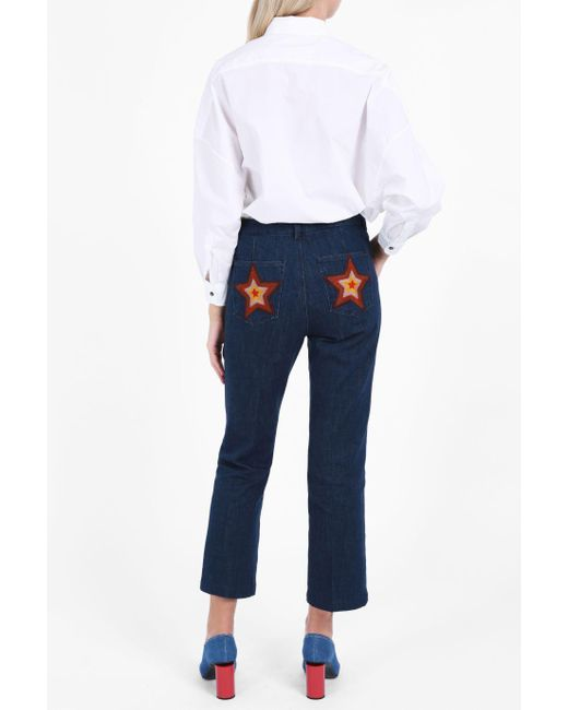 MiH Jeans | Blue Coler Flare Star Trousers | Lyst