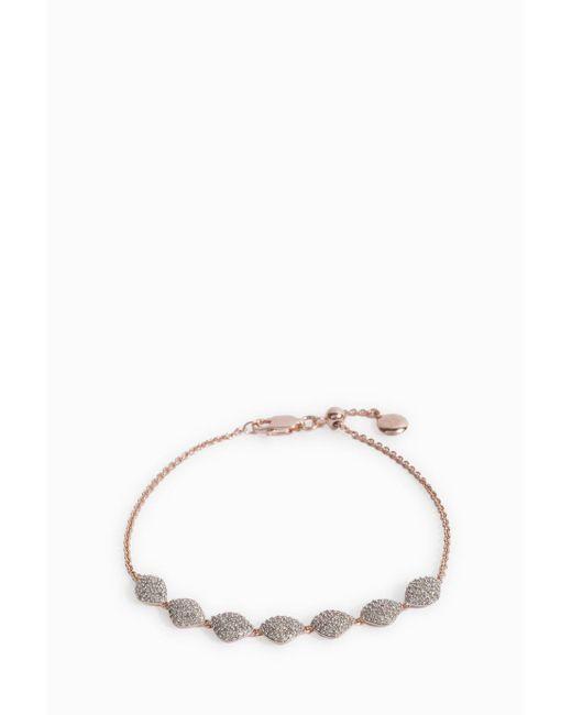 Monica Vinader | Multicolor Nura Diamond Teardrop Link Bracelet | Lyst