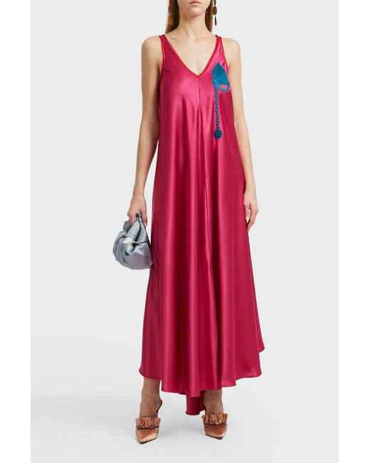 Marco De Vincenzo - Embroidered Pocket Long Dress, It38 - Lyst