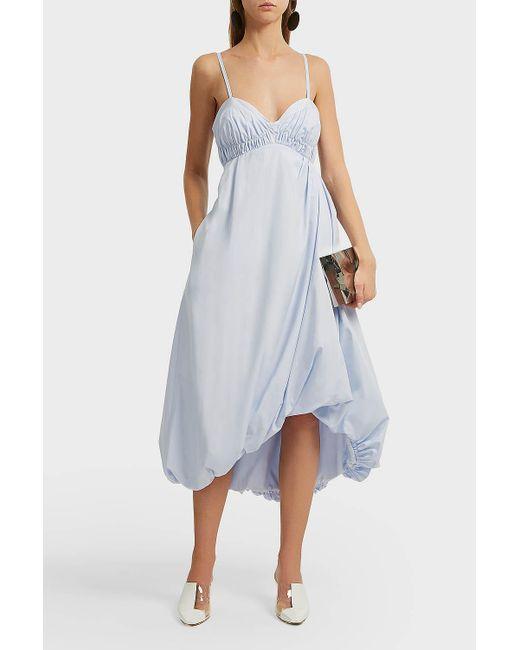 3.1 Phillip Lim - Blue Bubble Hem Cotton Midi Dress - Lyst