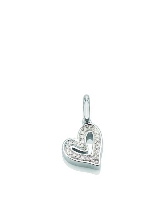 Monica Vinader - Metallic Alphabet Heart Pendant, Size Os, Women, Silver - Lyst