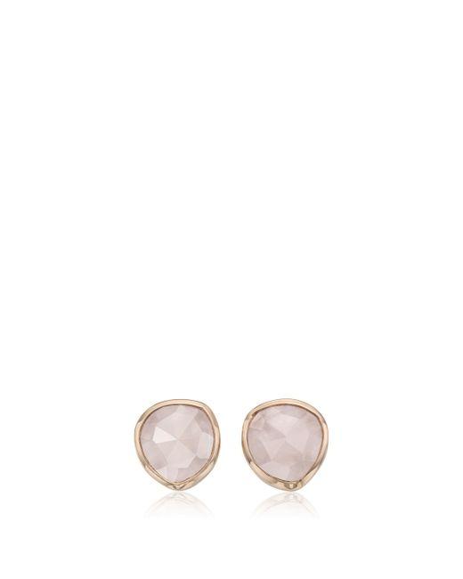 Monica Vinader | Pink Rp Siren Stud Earrings - Rose Quartz | Lyst