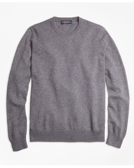 Brooks Brothers - Gray Cashmere Crewneck Sweater for Men - Lyst