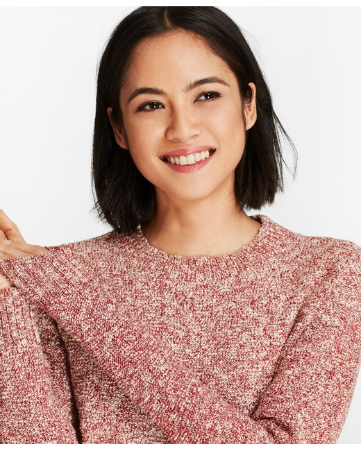 Brooks Brothers - Red Shimmer Boucle Sweater - Lyst