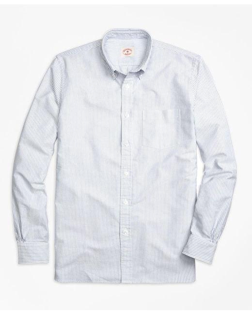Brooks Brothers - Blue Stripe Oxford Sport Shirt for Men - Lyst