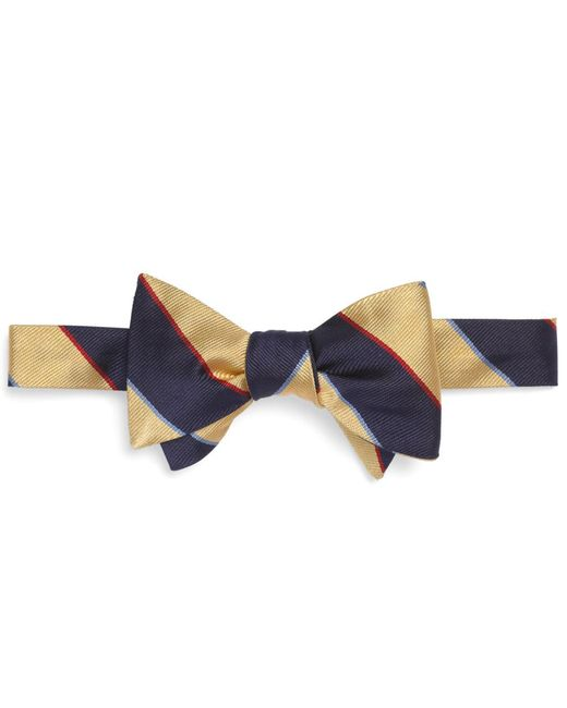 Brooks Brothers - Yellow Argyle Sutherland Rep Bow Tie for Men - Lyst