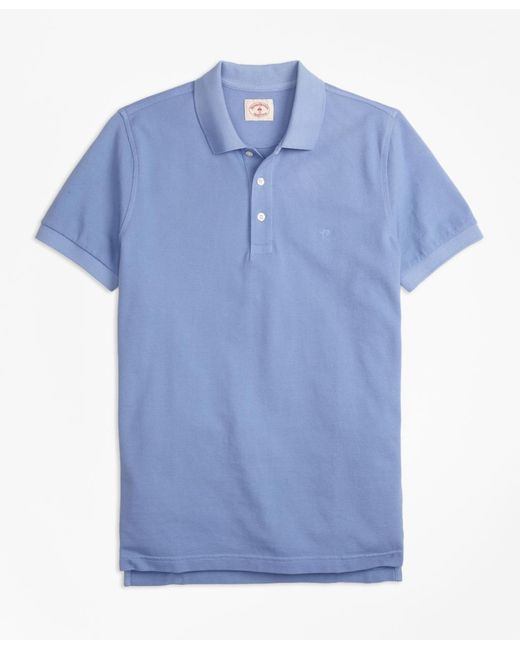Brooks Brothers | Blue Garment-dyed Cotton Pique Polo Shirt for Men | Lyst
