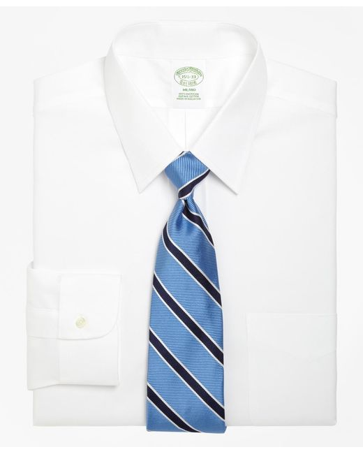 Brooks Brothers - White Milano Fit Forward Point Collar Dress Shirt for Men - Lyst