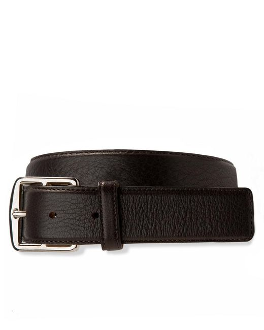 Brooks Brothers - Brown Deerskin Leather Belt for Men - Lyst