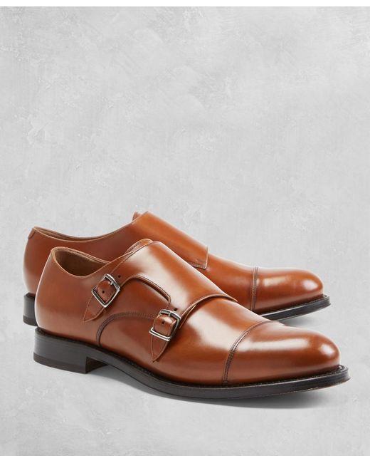 Brooks Brothers - Brown Golden Fleece® Double Monk Straps for Men - Lyst