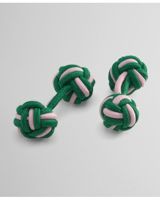 Brooks Brothers - Green Knot Cuff Links for Men - Lyst
