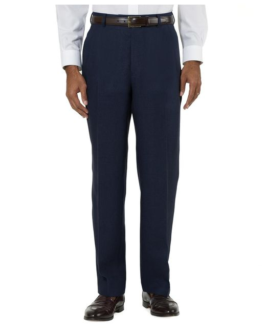 Brooks Brothers | Blue Irish Linen Plain-front Trousers for Men | Lyst