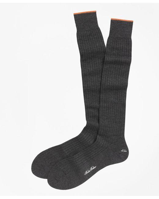 Brooks Brothers - Gray Merino Wool Golden Fleece® Sized Over-the-calf Socks for Men - Lyst