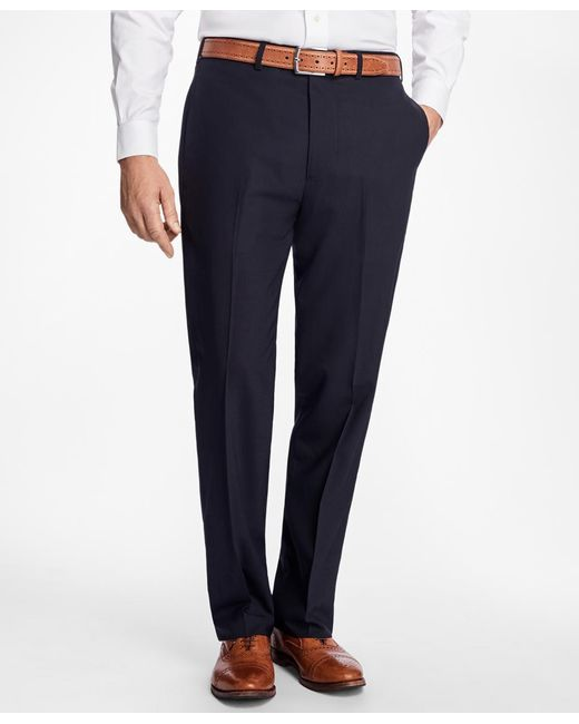 Brooks Brothers - Blue Madison Fit Brookscool® Houndstooth Trousers for Men - Lyst