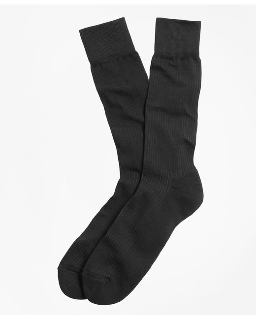 Brooks Brothers | Black Cotton Cushion Sole Socks for Men | Lyst