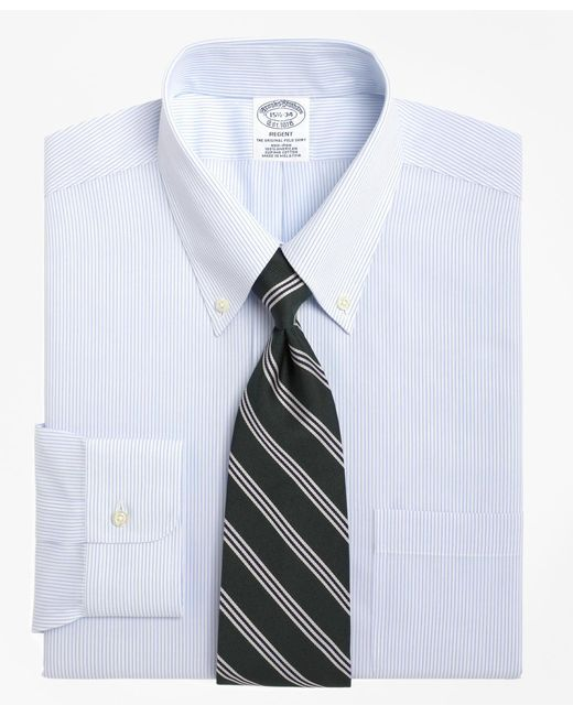 Brooks Brothers - Blue Non-iron Regent Fit Mini Pinstripe Dress Shirt for Men - Lyst