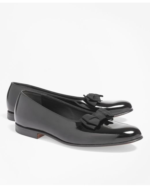 Brooks Brothers | Black Bow Patent Leather Loafers for Men | Lyst