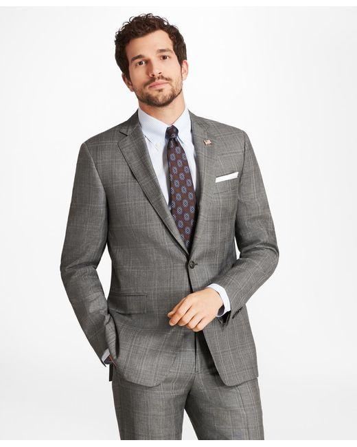 Brooks Brothers - Gray Regent Fit Plaid 1818 Suit for Men - Lyst