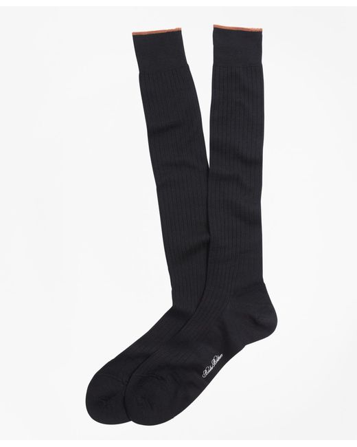 Brooks Brothers - Black Merino Wool Golden Fleece® Sized Over-the-calf Socks for Men - Lyst