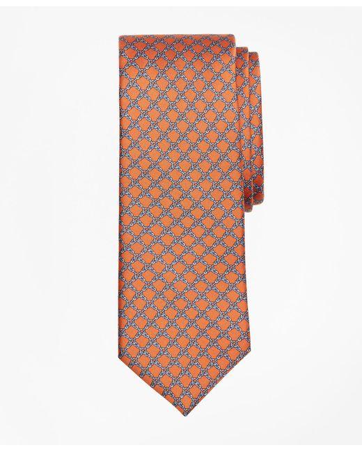 Brooks Brothers - Orange Square Link Print Tie for Men - Lyst