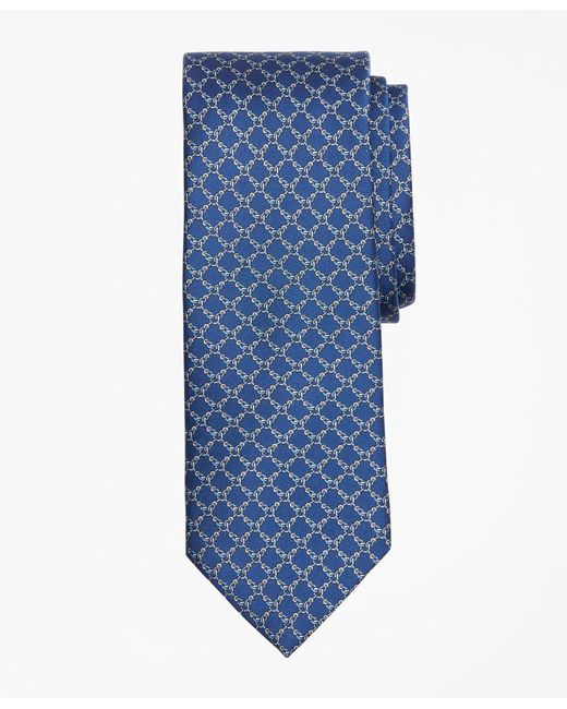 Brooks Brothers - Blue Square Link Print Tie for Men - Lyst