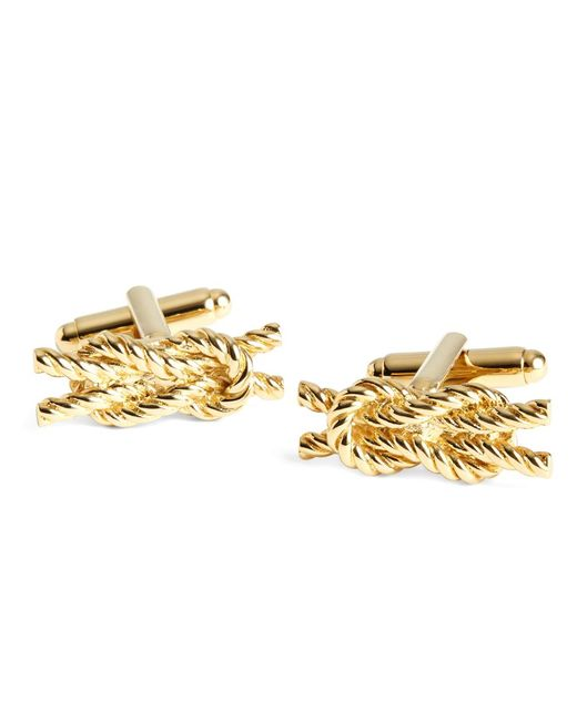 Brooks Brothers - Metallic Rope Knot Cuff Links for Men - Lyst